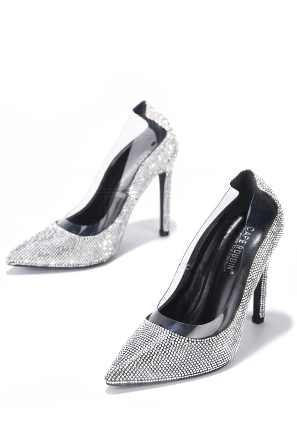 TOPIA KEEP HER AROUND RHINESTONE PUMPS-BLACK - FlashyBox