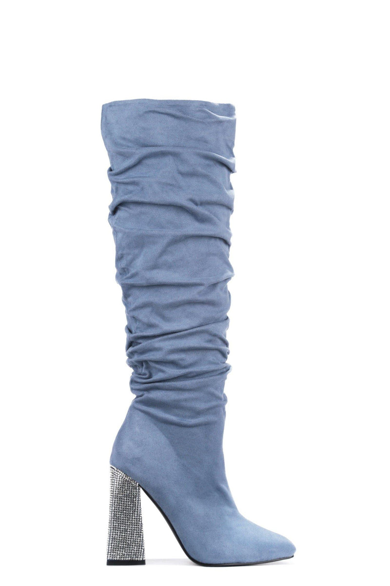 ESSENTIAL WHAT'S IT TO YOU KNEE HIGH BOOTS-TEAL