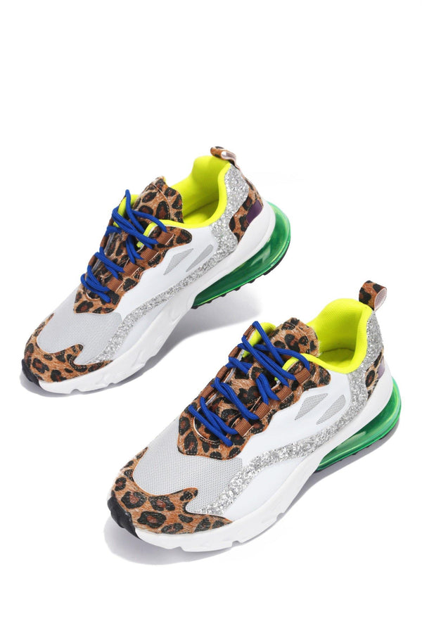 BEAVER I AIN'T MAD SNEAKERS-LEOPARD - FlashyBox