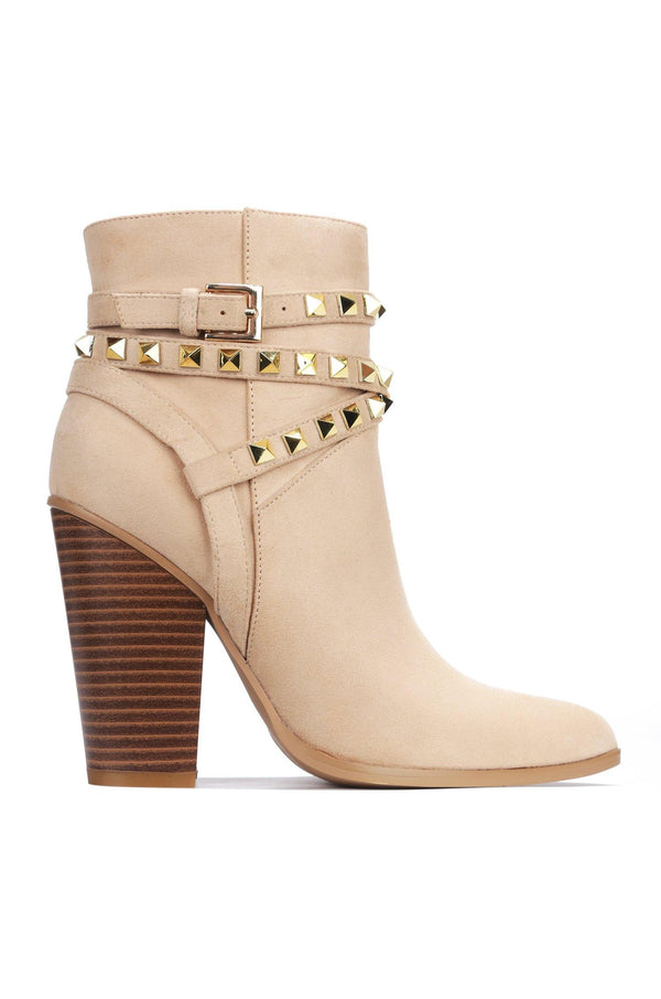 CLASSIC NO BACKING DOWN BOOTIES-NUDE