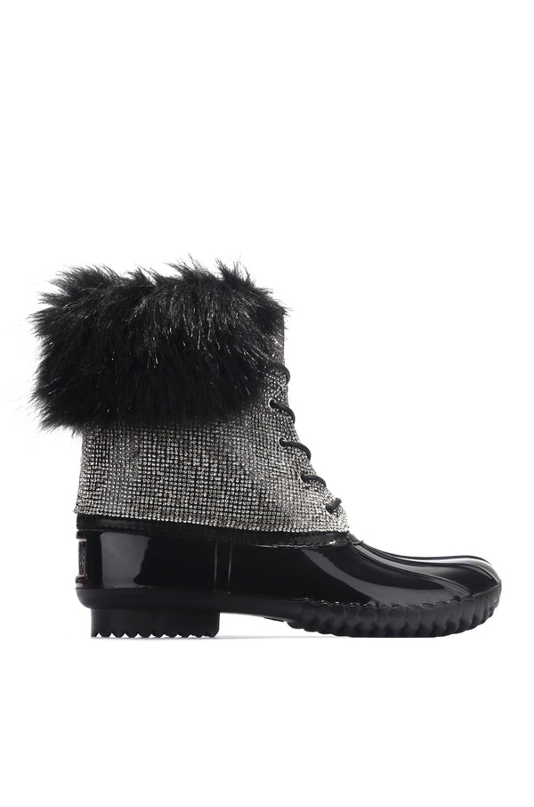 DIAMONTE HIGHER LIMITS BOOTIES-BLACK - FlashyBox