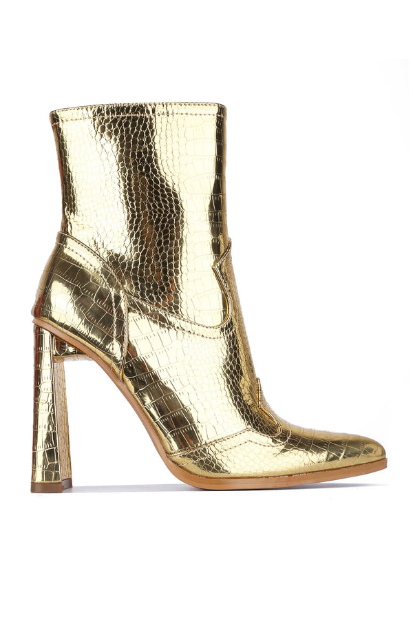 SELMA MIDNIGHT LOVER BOOTIES-GOLD