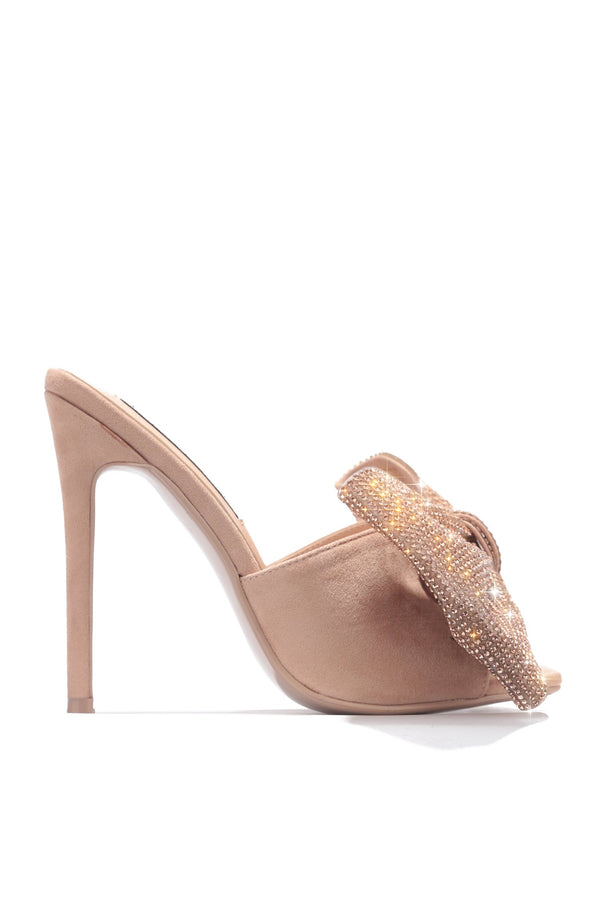 LEIA CLASSY NIGHT OUT HEELED SANDALS-NUDE - FlashyBox
