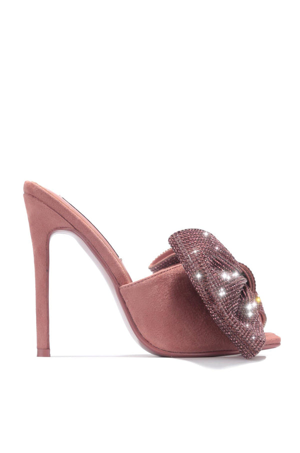 LEIA CLASSY NIGHT OUT HEELED SANDALS-PINK