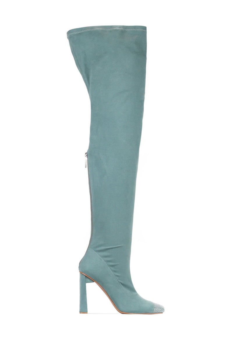 RINGPOP LOTS OF FUN THIGH HIGH BOOTS-MINT - FlashyBox