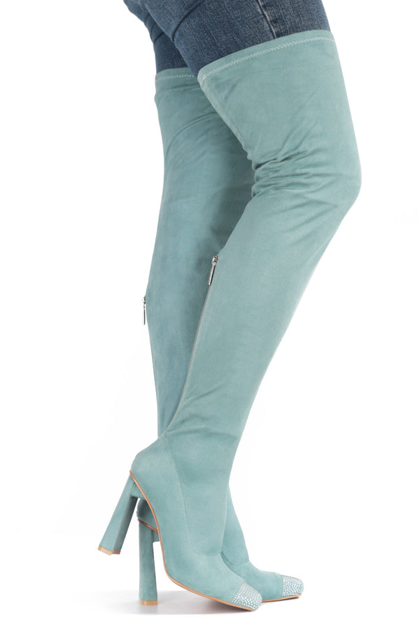 RINGPOP LOTS OF FUN THIGH HIGH BOOTS-MINT