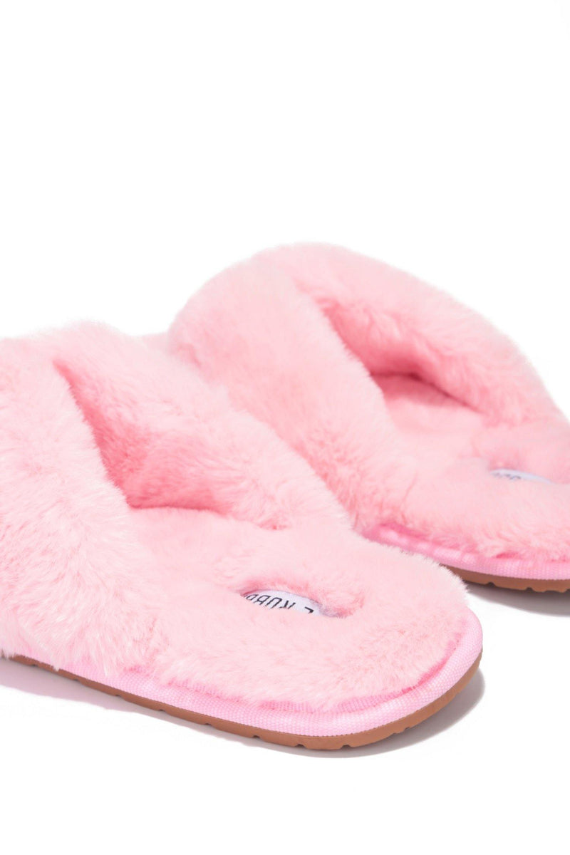AZARIA PURELY PERFECT FUR SLIDES-BLUSH