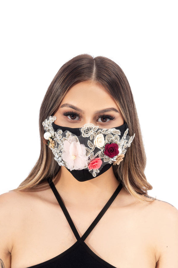 AVERLY FACE MASK-BLACK - FlashyBox