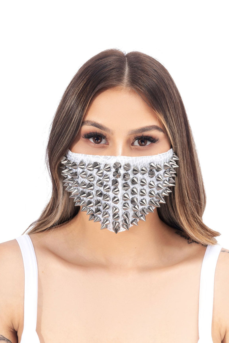 KALIA FACE MASK-WHITE - FlashyBox