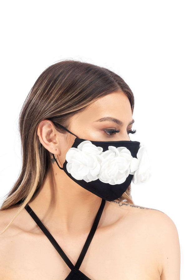 AMILA FACE MASK-BLACK WHITE - FlashyBox