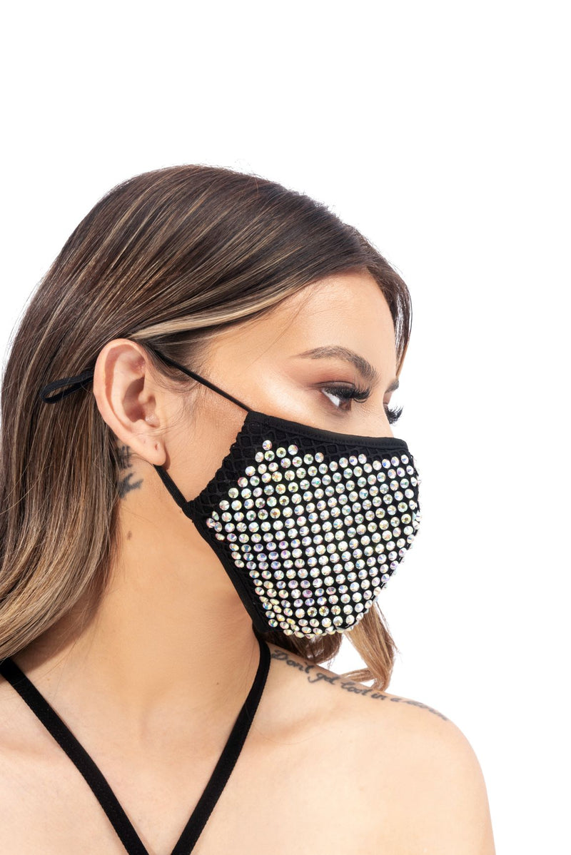 SUTTON FACE MASK-BLACK - FlashyBox