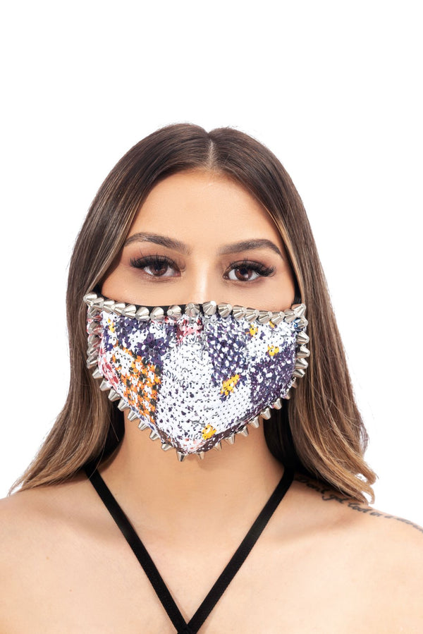 TRISTAN FACE MASK-SILVER - FlashyBox