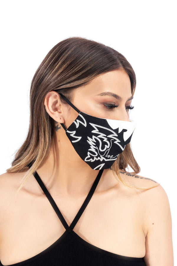 KELSEY FACE MASK-BLACK - FlashyBox