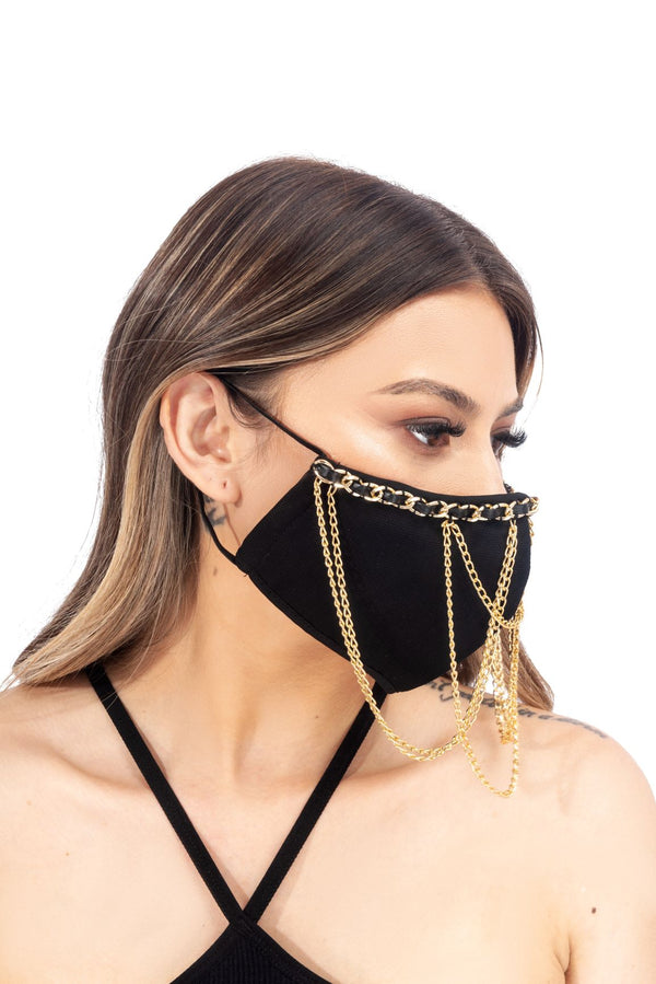 CHANDELI FACE MASK-BLACK - FlashyBox