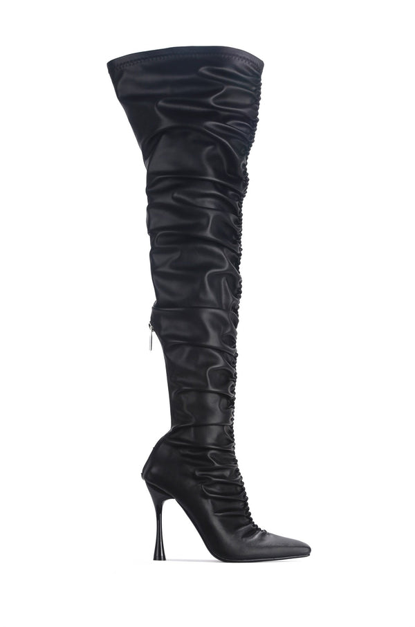 WHATSIS PRETTY IN THIGH HIGH BOOTS-BLACK - FlashyBox