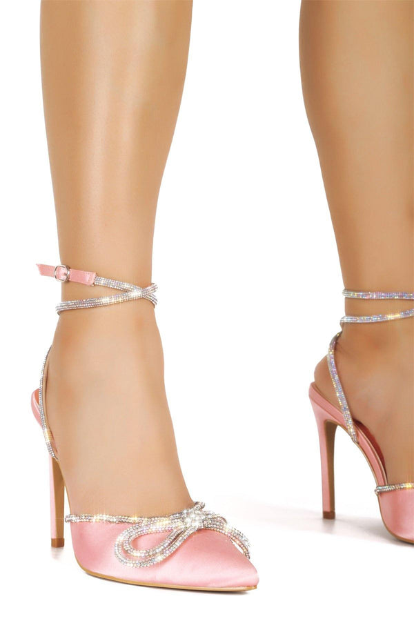 CHRISTIE WHERE THE LOVE IS HEELED SANDALS-PINK - FlashyBox