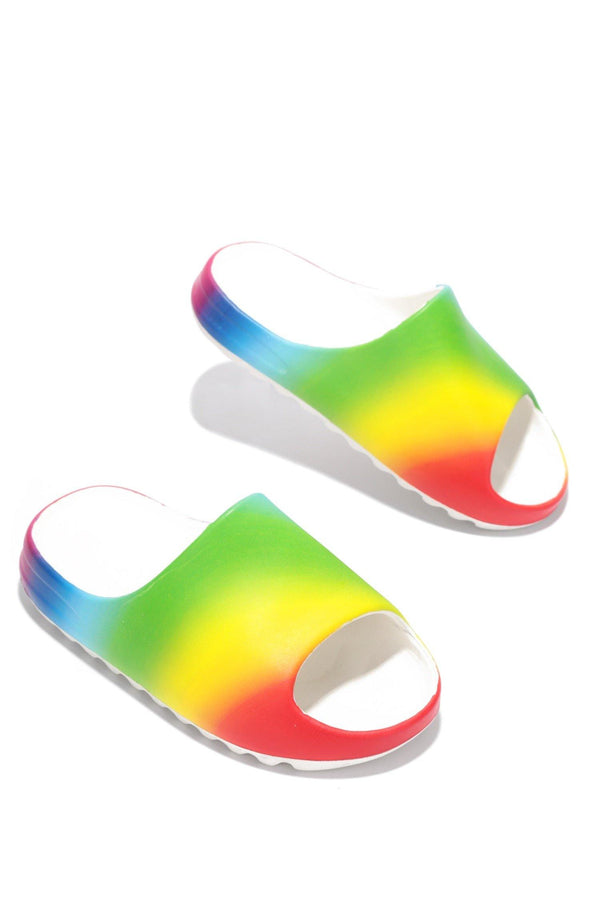ELINA PAINTED SANDALS WITH BACK STRAP-RAINBOW