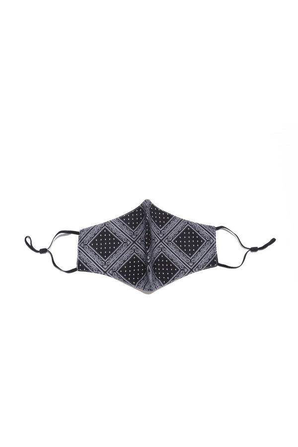 SONIQUE BANDANA FACE MASK-BLACK - FlashyBox