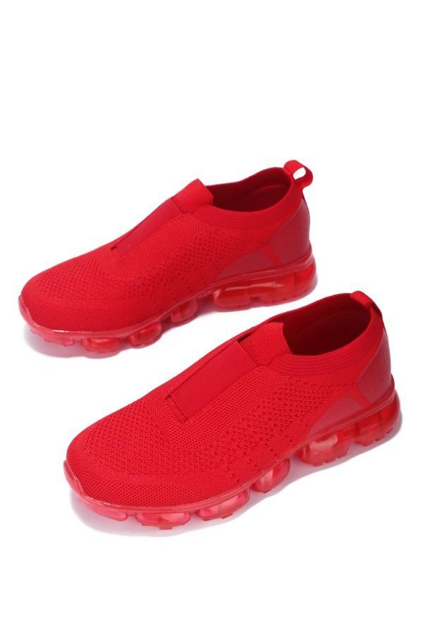 RUNAWAY OVERTIME SLIP ON SNEAKER-RED