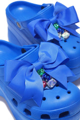 SUMO CHUNKY PLATFORM SANDAL WITH BOW-BLUE