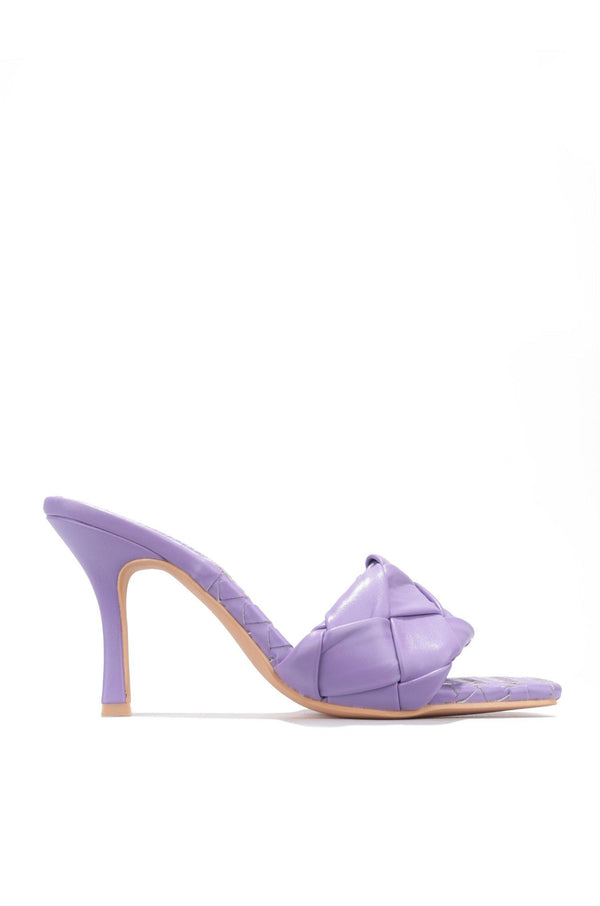 WAVE IT LIKE NEVER BEFORE SLIP ON WOVEN HEELS-PURPLE