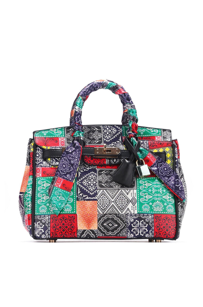 DRAGON BADANA PRINT TOTE BAG-MULTI COLOR