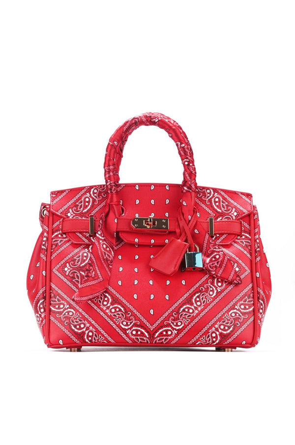 DRAGON BADANA PRINT TOTE BAG_RED