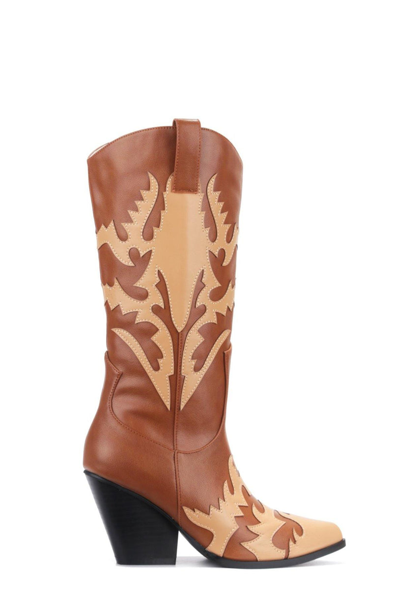 KEZIA BRING IT ON WESTERN BOOTS-TAN