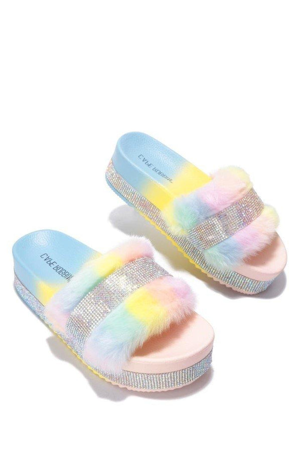 COLUMBIA SWEET HAVEN FUR SANDAL-TIE DYE