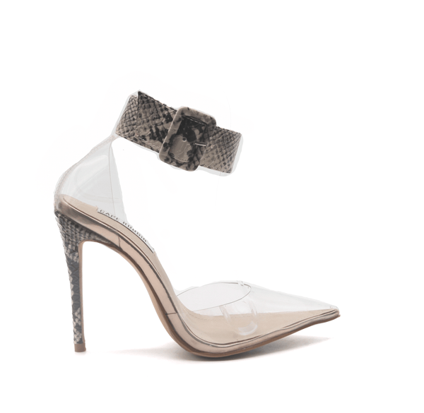 Cape Robbin Cape Robbin | Calista Transparent Clear Stiletto High Heel Pumps-Snake HEELS | flashybox.myshopify.com