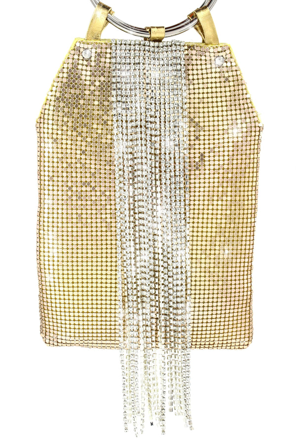 Nights To Remember Rhinestone Bag - Gold