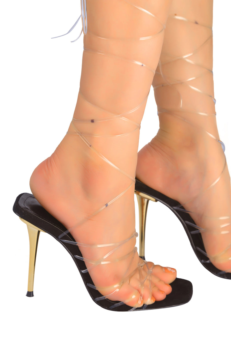 Cape Robbin MY BAD TOMB RAIDER STRAPPY LACE UP STILETTO HEEL-BLACK HEELS | flashybox.myshopify.com