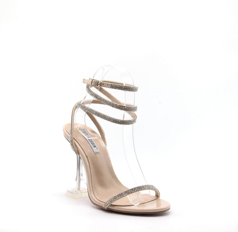 Cape Robbin OCTAVIA SQUARE STILETTO HIGH HEEL ANKLE STRAP SANDAL-NUDE HEELS | flashybox.myshopify.com
