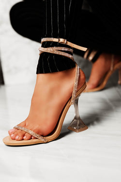 Cape Robbin | OCTAVIA Square Stiletto High Heel Ankle Strap Sandal-Nude (3857822056482)