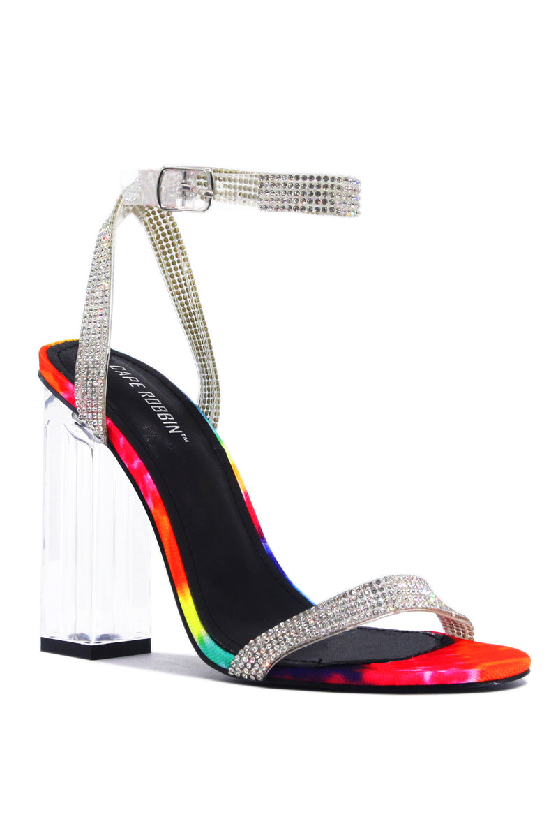 Cape Robbin WYNN THE RHINESTONE GLASS HEELS- MULTI HEELS | flashybox.myshopify.com