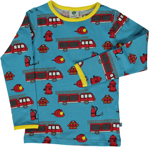 Blue Fire Truck Shirt
