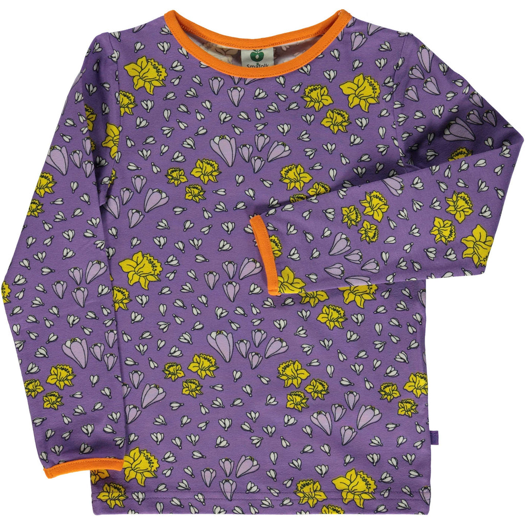 Purple Spring Flower Shirt
