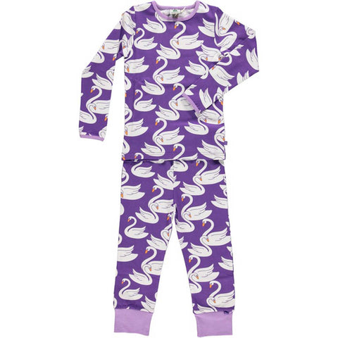 Purple Swan Pajamas