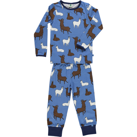 Winter Blue Llama Pajamas
