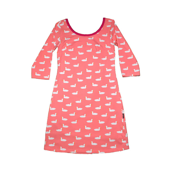 Pink Duck Pond Adult T-Shirt Dress