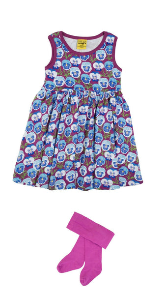 Pansy Hyacith Violet Twirly Dress