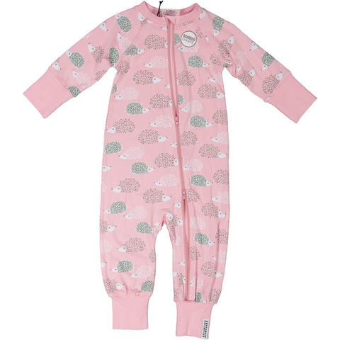 Pink Hedgehog Zip Pajamas