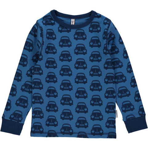 Blue Car Long Sleeve Shirt