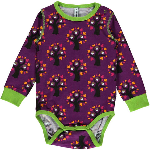 Purple Oak Tree Onesie