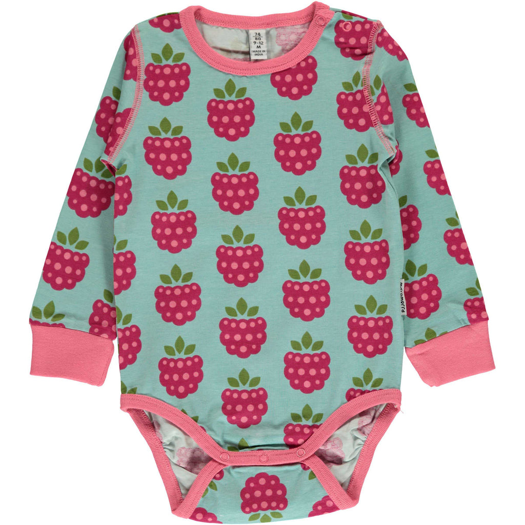 Raspberry Long Sleeve Onesie