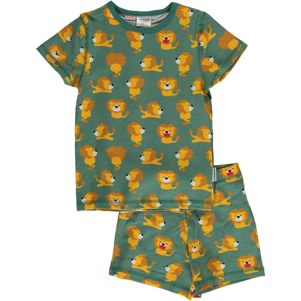 Lion Short Sleeve Pajamas