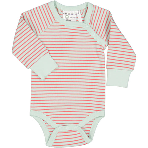 Raspberry Striped Onesie