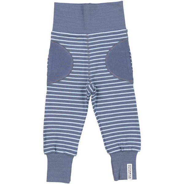 Soft Blue Striped Baby Bottoms