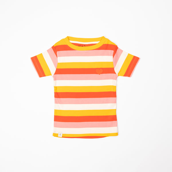 Strawberry Ice Striped T-Shirt