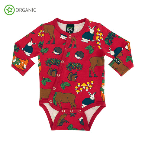 Red Nordic Animals Onesie